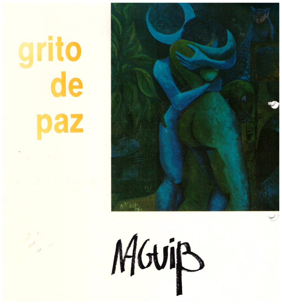 "Calalogue for ""grito de paz"" by Naguib"
